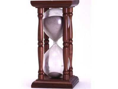 שעון חול מתחיל התיישנות