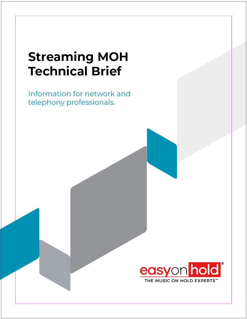 streaming music on hold technical brief cover image