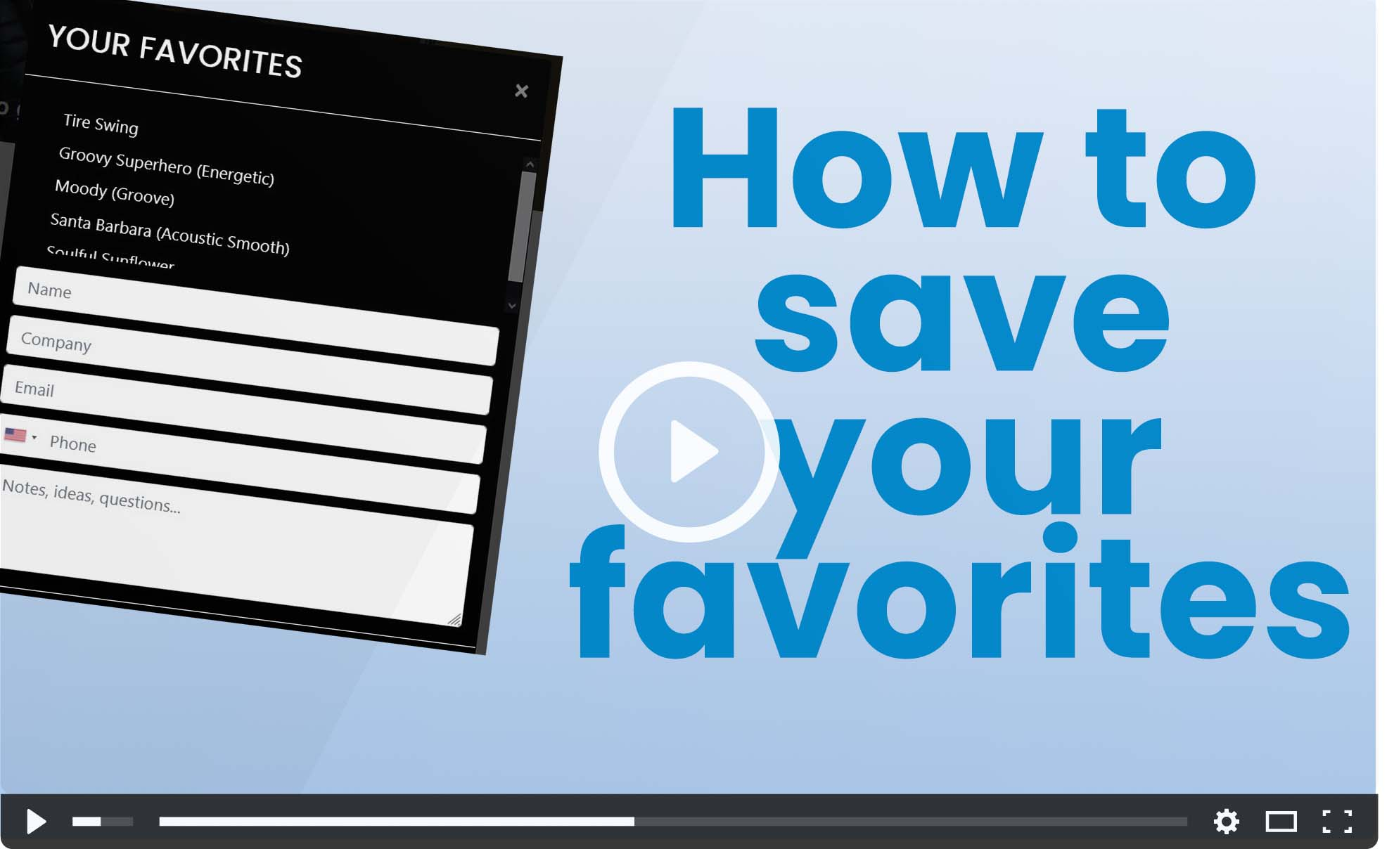 video cover: how to choose and submit favorites