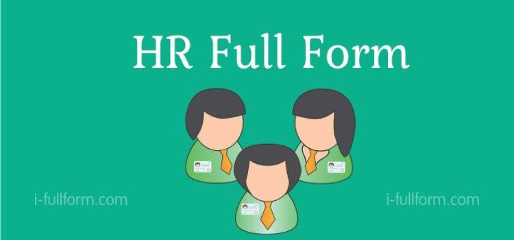 HR Full Form - What is HR?