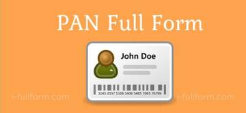 PAN full form - what is a PAN card?