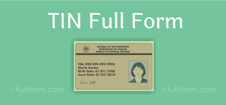 TIN Full Form - What is TIN?