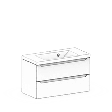 Szafki wiszące z umywalkami