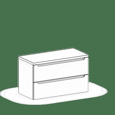 Szafki umywalkowe wiszące z blatem