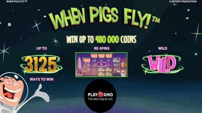 When Pigs Fly Slots – 3,125 Ways to Win!