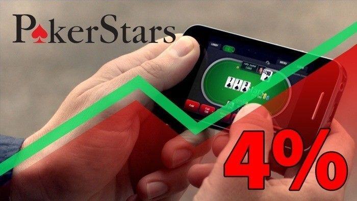 PokerStars to Introduce a 4% Rake Hike