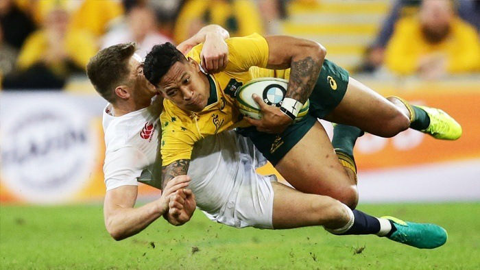 England Defeat Australia in Rugby Test Match
