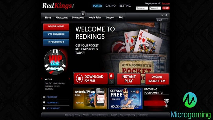 RedKings Teams Up with Microgaming