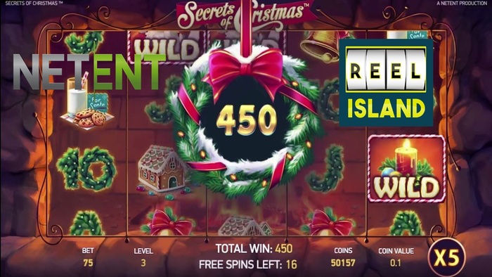New NetEnt Slots Secrets of Christmas on Reel Island
