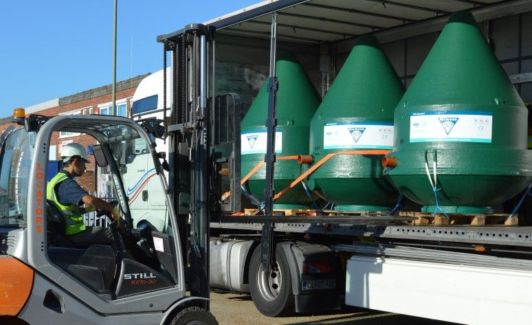Image-of-WPL-Diamond-compact-package-wastewater-sewage-treatment-tanks-for-off-mains-drainage-on-a-truck-ready-for-delievery-in-the-mainland-uk.