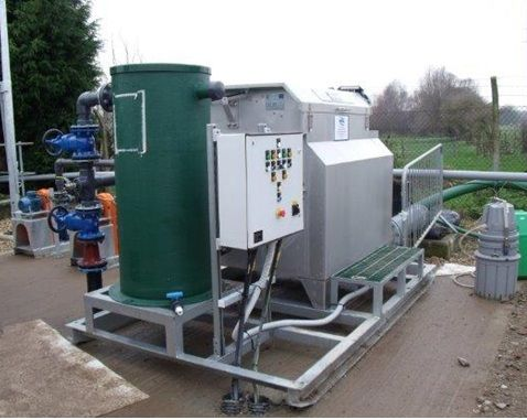 Hire WPL Microscreen tertiary polishing plant skid mounted, a component of wastewaster and sewage treatment systems
