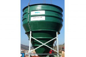 Image of Conical Final Settlement Tank, component of a WPL sewage and wastewater treatment plant