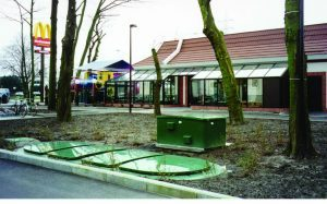 Image of WPL Midi compact sewage system installed at McDonalds