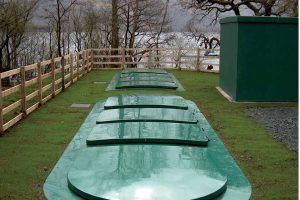 Image of WPL HiPAF Midi sewage treatment plant at a campsite for off mains drainage