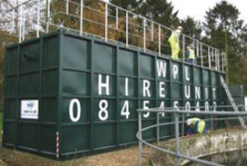 Hire plants for wastewater treatment