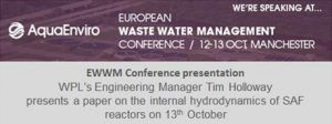 wpl-at-the-european-watewater-management-event-tim-holloway-presenting-paper-on-internal-hydrodynamics-of-saf-reactors-13th-october
