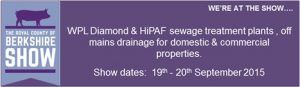 wpl-at-the-royal-berkshire-county-show-domestic and commercial-sewage-treatment-plants-off-mains-drainage