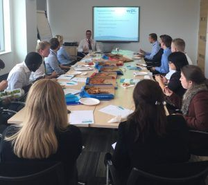 Image of Andrew Haywood, presenting a lunch and learn seminar