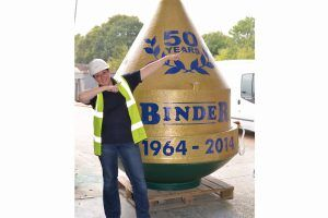 Image of WPL Diamond domestic sewage treatment plant with installer Binder celebrating their 50 year anniversary.