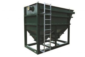 WPL Lamella separator has up to 95% efficiency wastewater treatment and an ideal solution when space is at a premium.