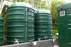 Image of WPL sludge storage tanks at Walkers Shortbread factory