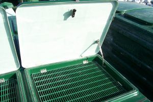 Image of WPL MK3 lids showing grates to walk on, part of the bespoke wastewater treatment system