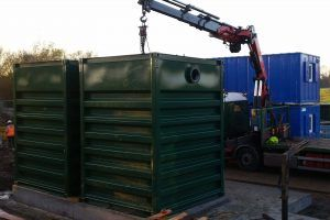 Image of N-SAF Installation at Severn Trent Wastewater Treatment site