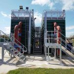 Modular SAF: Off-site build meant less workers were required at Yorkshire Water's site and in turn minimising the risk of health and safety and quality control. The bespoke modular steel wastewater treatment tanks were designed to over come challenging on-site access, live overhead cables and erected on site within two days.