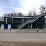 WPL SAF:  Restricted access and limited manoeuvrability made it impractical to use a fixed crane to install a single unit.  Therefore the replacement plant was manufactured in four modular units, which were lifted into place by a truck-mounted Hiab and connected to form a single plant.