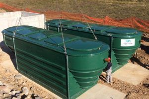 the-second-WP-Hipaf®-sewage-treatment-unit-is-lowered-on-site-in-zdenska-vas-slovenia