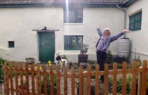 happy-customer-after-the-installation-of-a-wpl-diamond-sewage-treatment-plant-which-replaced-a-leaking-septic-tank-now-the-cottage-in-somerset-is-compliant