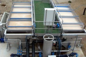 Image of a Dissolved Air Flotation (DAF) wastewater treatment system