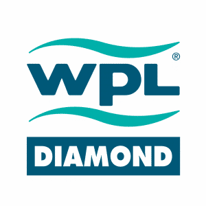 WPL Diamond logo for domestic sewage treatment for off mains drainage