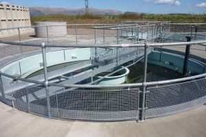 Image of WPL conical tanks installed at a Scottish Water wasterwater treatment site
