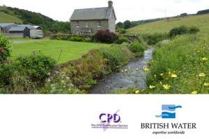 image of a house by a stream for WPL news - WPL technical director Andrew Baird to present at British Water sewerage infrastructure for off mains for up to 50PE - treating sewage effluent before reaching the environment