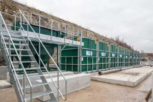Image of WPL Hybrid-SAF™ submerged aerated filter installation at Ebbsfleet Castle Hill Development