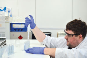 Image of researcher at Petersfield Wastewater Treatment Works