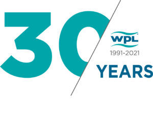 WPL celebrating 30 years delivering water recycling solutions logo