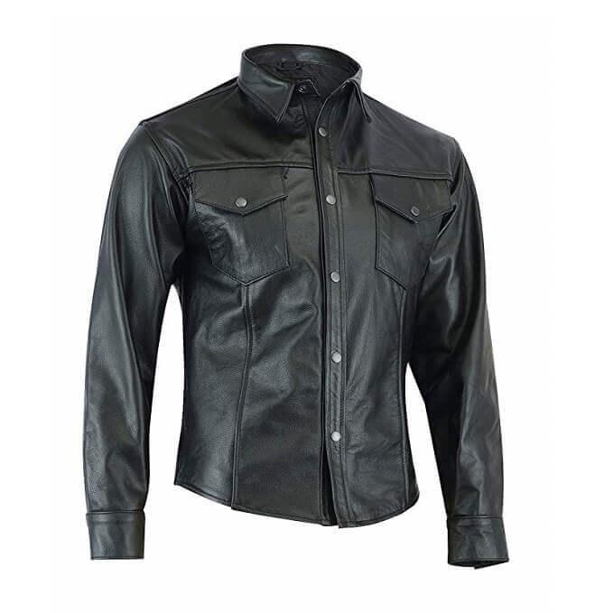 Leather Shirts Designs #SRM001