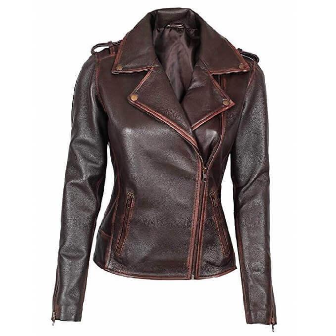 Women Leather Jackets Designs #JAW011