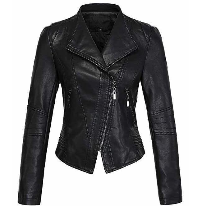 Women Leather Jackets Designs #JAW012