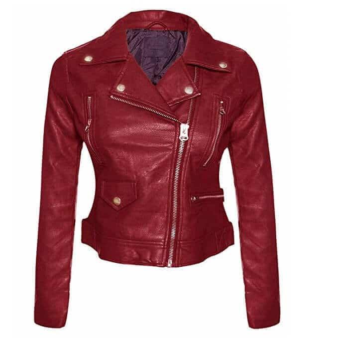 Women Leather Jackets Designs #JAW013