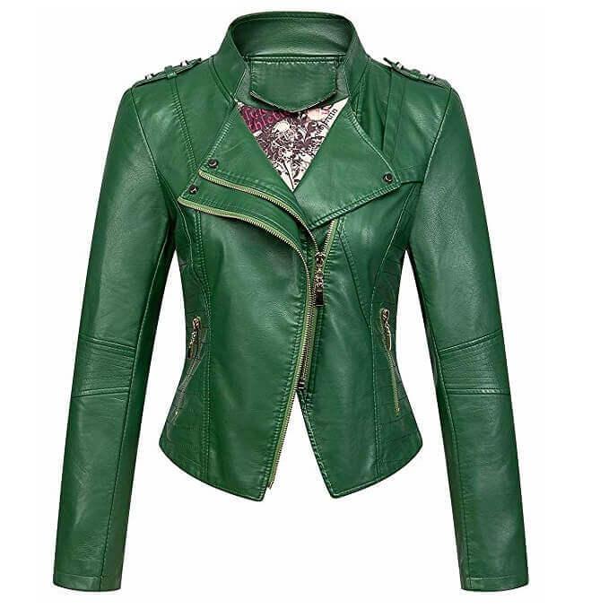 Women Leather Jackets Designs #JAW014