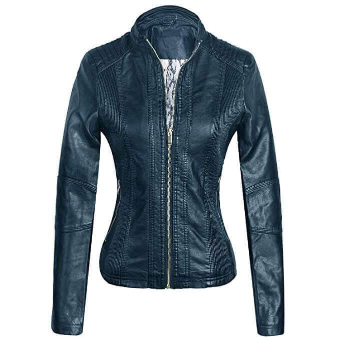 Women Leather Jackets Designs #JAW015
