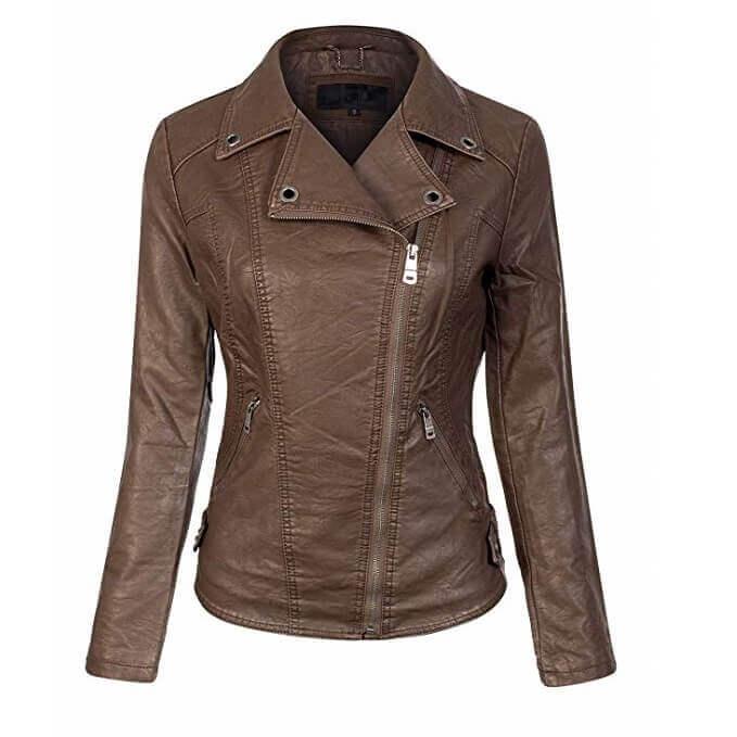 Women Leather Jackets Designs #JAW016