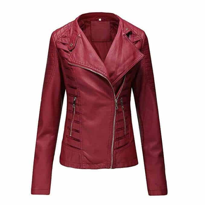 Women Leather Jackets Designs #JAW017