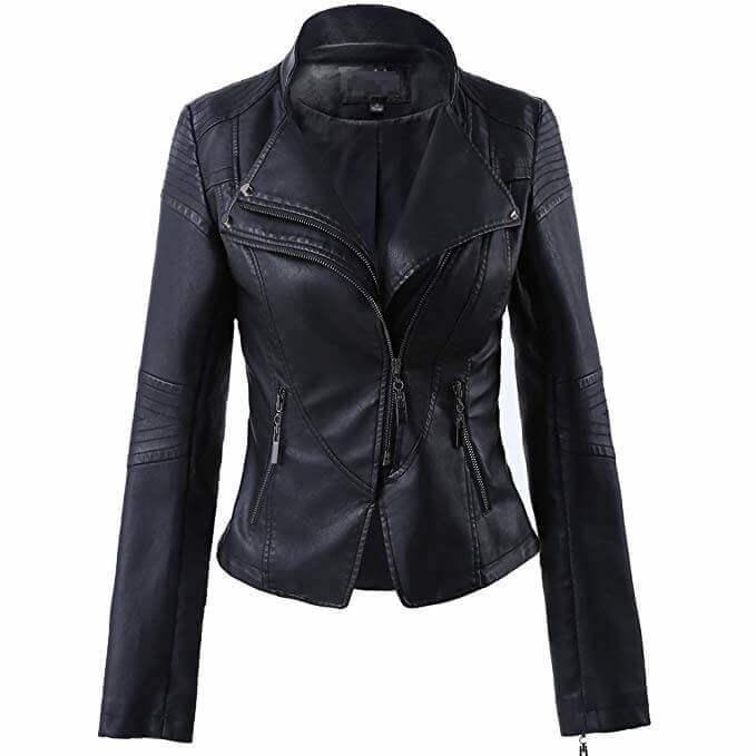 Women Leather Jackets Designs #JAW018