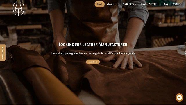 Leather manufacturer website