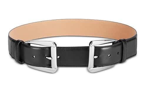 Double Buckle Leather Belt