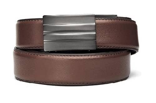Ratchet Leather Belt